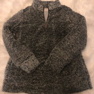 Half zip Sherpa pullover size Large